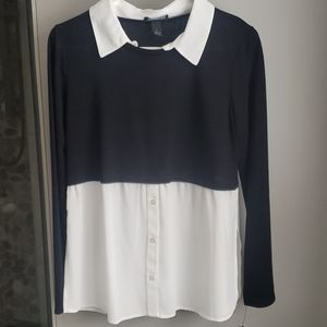 Sweater, blouse combination